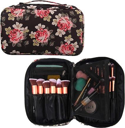 RelavelEstuche profesional para cosméticos y maquillaje, organizador de brochas de maquillaje, estuche para artistas con correa