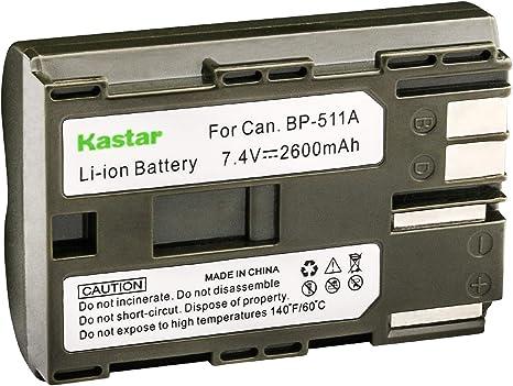 Batería Para CANON BP-511 EOS-5 10 20 300 5D D30 D60 Akku D