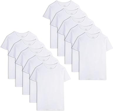 Fruit of the Loom - Camiseta para niño (algodón), color blanco ...