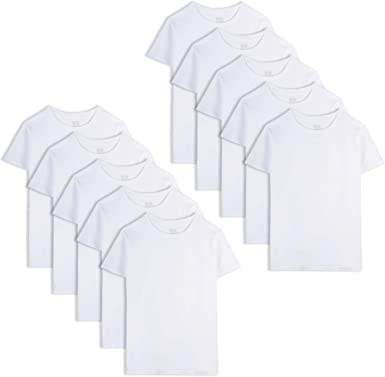 , White Pack of 7 A-Shirts Fruit of The Loom Boys Cotton Tank Top Undershirt 126-146 lbs // 65-69 Chest Multipack X-Large