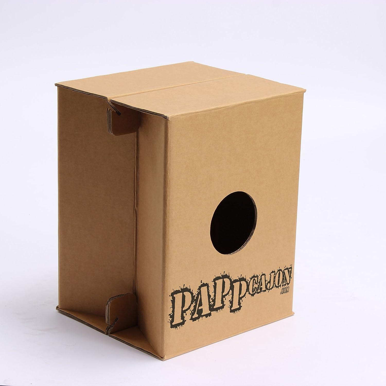 Cajon de percusión. Instrumento de cartón, ligero y plegable del fabricante PappCajon. 46x36x36cm hasta 150 Kg de carga. Para principiantes y avanzados.