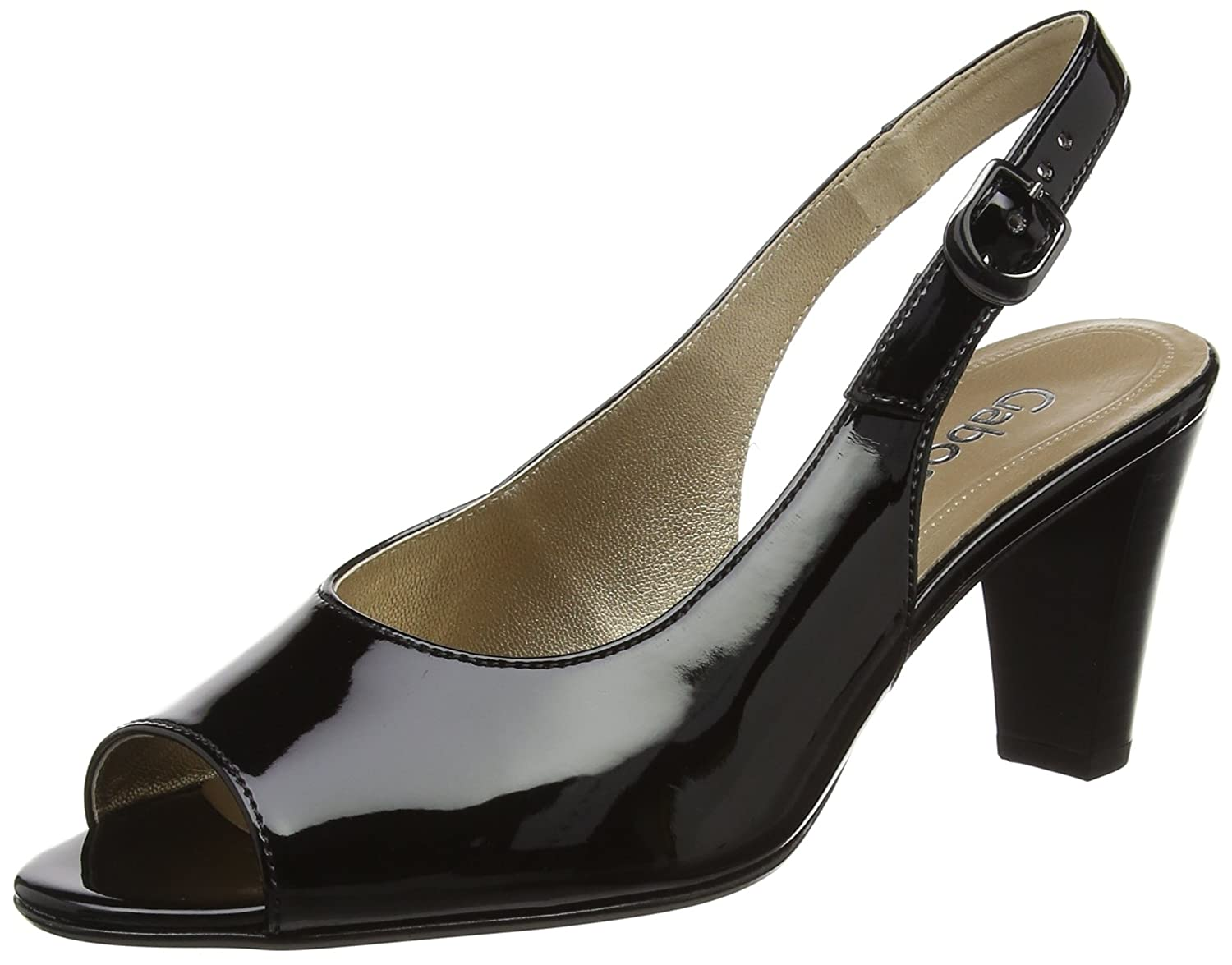 Gabor Shoes Fashion, Sandales Bout Ouvert Bout Femme Noir Noir Shoes (Noir 77) 29f35bb - automaticcouplings.space
