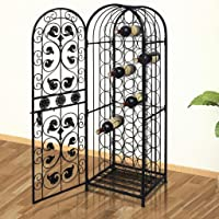 Metal Wine Cabinet Rack Wine Stand for 45 Bottles chic wine rack Stand Powder coated in black