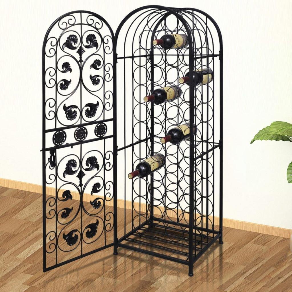 Hobbyesport Cantinetta Porta Vino ad armadietto in Metallo per 45 Bottiglie