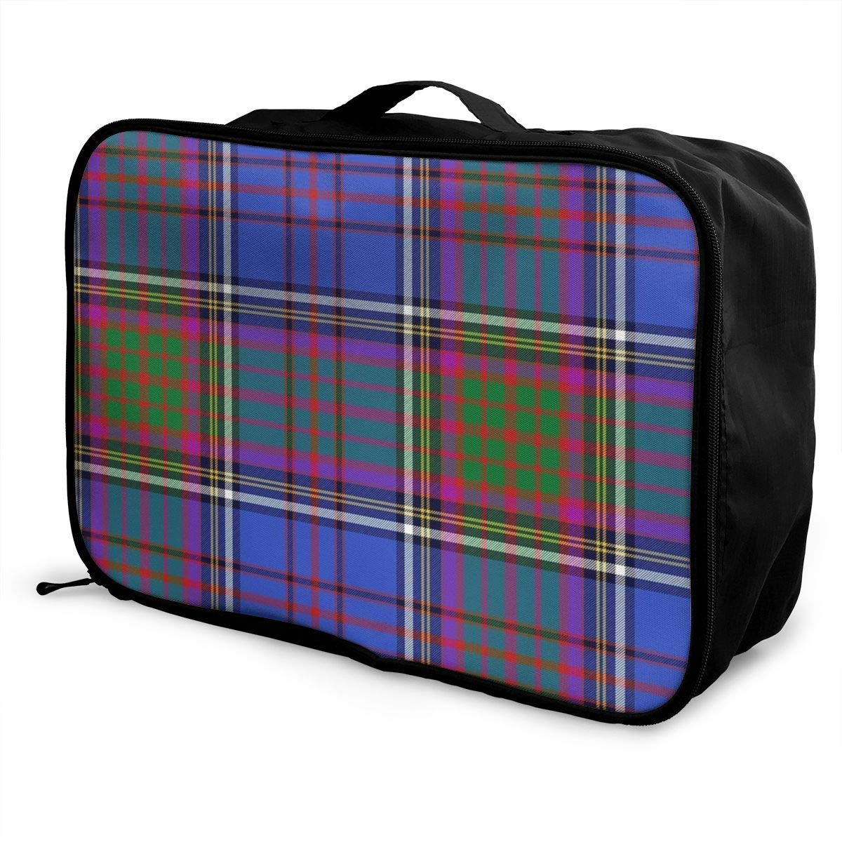 Portable Luggage Duffel Bag Anderson Tartan Travel Bags Carry-on In Trolley Handle