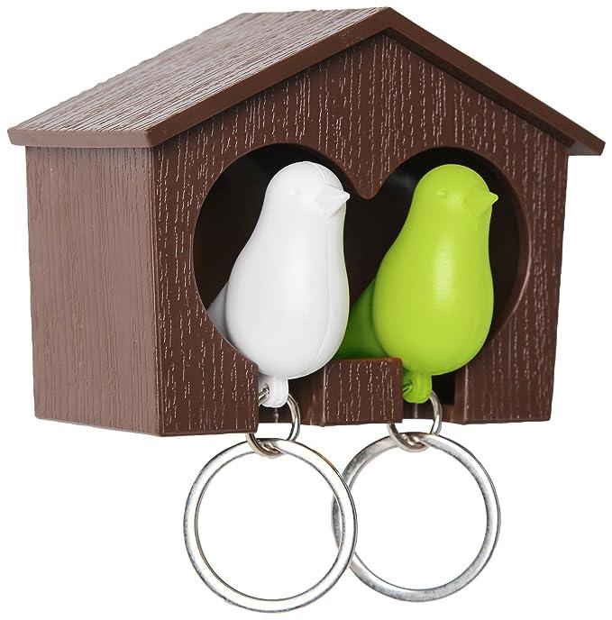 Amazon.com: Duo Sparrow llavero clave titular y silbato ...