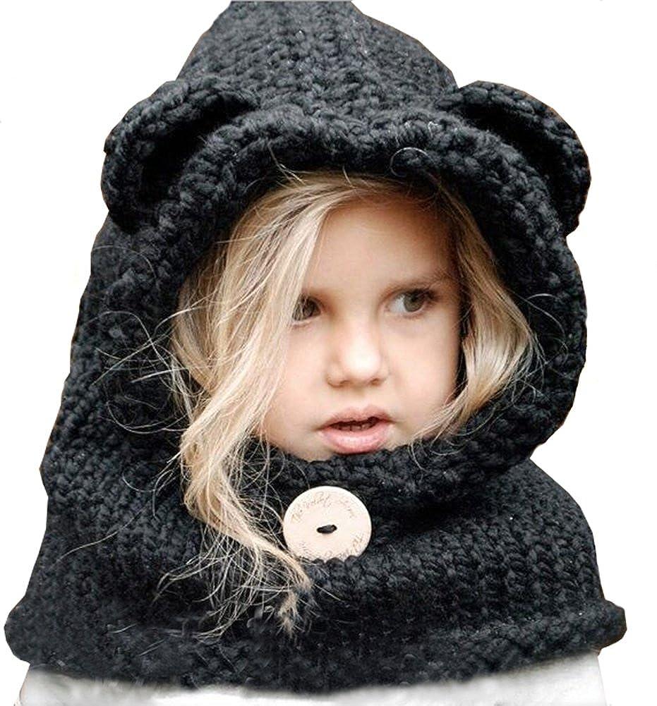 BlanKey HAT ベビーガールズ B074G16KQB Black Bear Black Bear