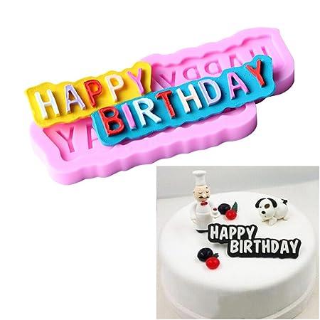 1 pcs para tarta de cumpleaños Decoración Chocolate Molde ...