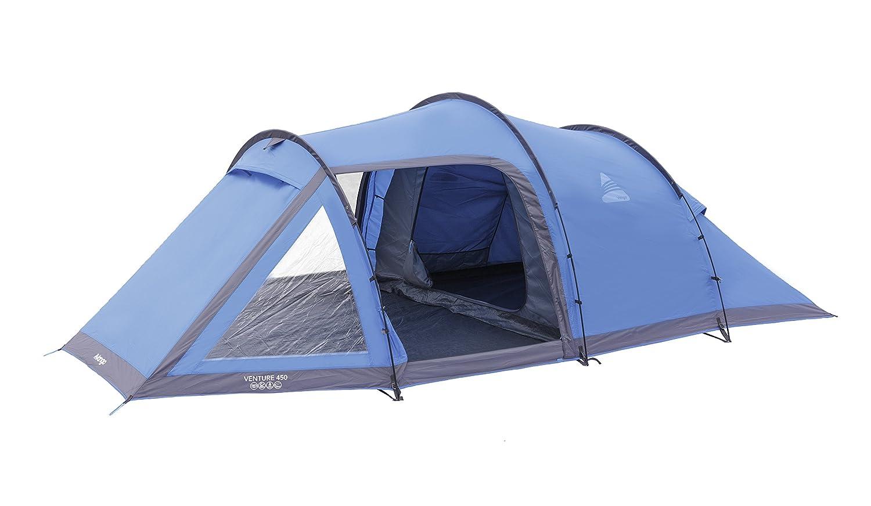 Vango Venture 450 4-Personen-Zelt, 3 Stangen, Blau