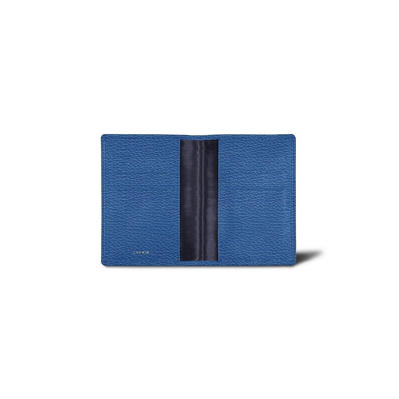 Lucrin - Funda de lujo para pasaporte - Azul marino - Cuero Grano: Amazon.es: Equipaje
