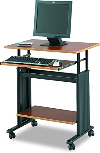 Safco Muv Adjustable-Height Desk, Cherry