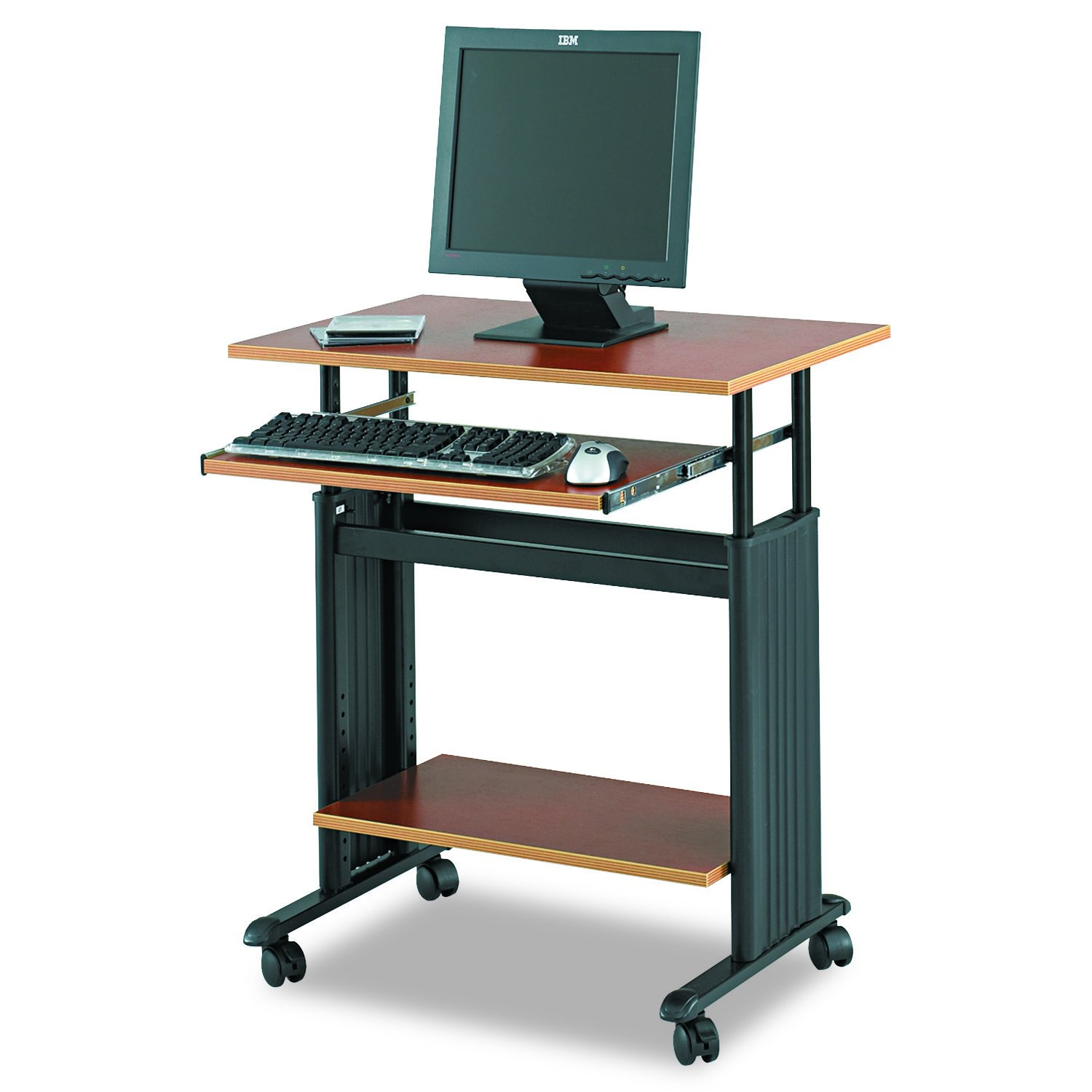 Safco Products 1925CY Muv Adjustable-Height Desk, Cherry