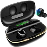 Wireless Earbuds, DuoTen IPX7 Waterproof Bluetooth Wireless Earphones, 3000mAh Charging case 150H Playtime Touch Control with