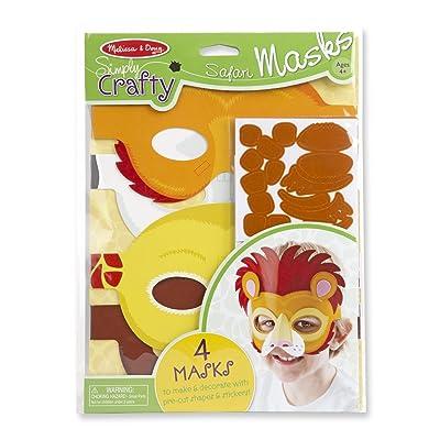 Melissa & Doug Simply Crafty Safari Mask Kit (Makes 4 Masks): Melissa & Doug: Toys & Games