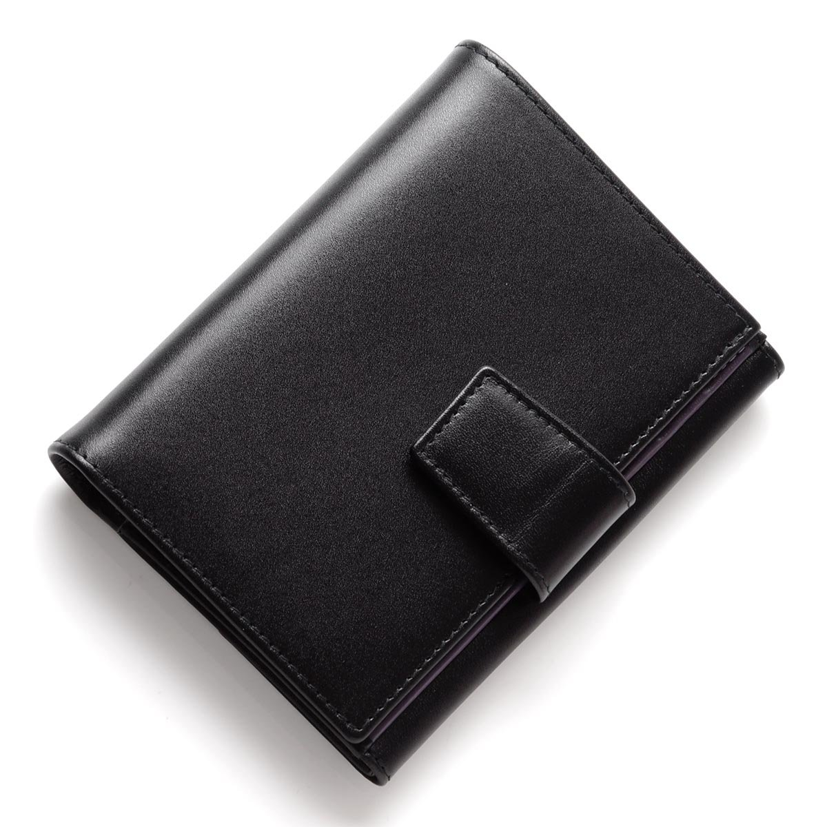 (エッティンガー) ETTINGER 二つ折り 財布 小銭入れ付き/ロイヤルコレクション/パープルコレクション [並行輸入品] B07D4FHJRFブラック/パープル Free