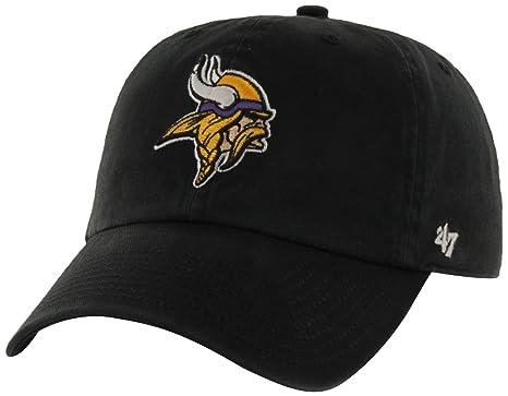 4598d702b Amazon.com   NFL Minnesota Vikings  47 Brand Clean Up Adjustable Hat ...