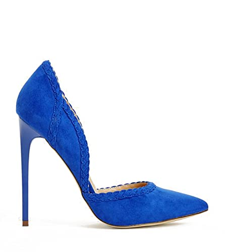 3a38c3a357 Amazon.com | JustFab Maite Pointed Toe Dress Pump High Heels Shoes for  Women's Sz 7.5 Cobalt Blue | Pumps
