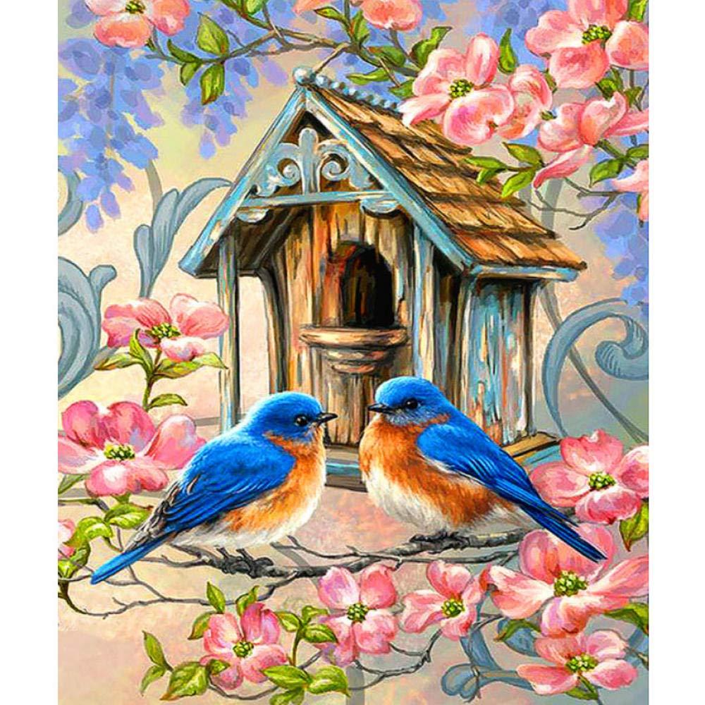 Avec Cadre 4050cm Waofe Moineaux Lumineux Peinture Diy Par Nombres 24 Peinture Au PigHommest Peinture à La Main Peinture à L'Huile Numérique Peint à La Main- With Frame