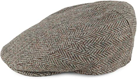 Failsworth Gorra Plana Stornoway diseño Espiga Tweed Harris Beige ...