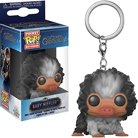 Funko Baby Niffler: Fantastic Beasts - The Crimes of Grindelwald x Pocket POP! Mini-Figural Keychain + 1 Official Harry Potter Trading Card Bundle ...