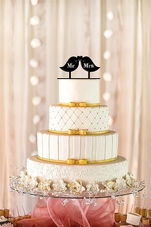 Amazon.com: Love Birds Wedding Cake Topper, Love Birds Cake Topper ...