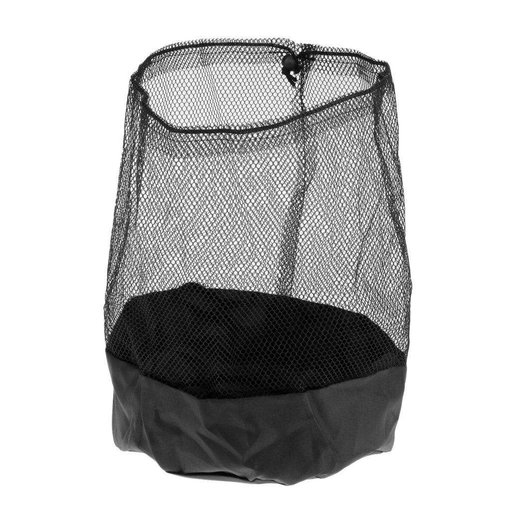 Baoblaze Soccer Disc Cone Storage Carry Bag Mesh Drawstring Holder Football Training