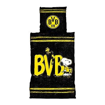 Borussia Dortmund Bvb Bettwäsche Snoopy 135 X 200 Cm One Size