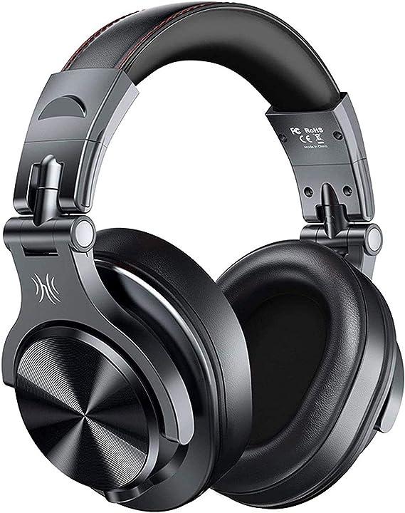 Auriculares Bluetooth sobre la oreja, inalámbricos y con cable con auriculares de puerto compartido, auriculares estéreo de estudio plegables con ...