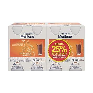 Nestlé Meritene Drink Chocolate 125ml X 8 Bottles – High-protein Drinkable Supplement – Vitamins