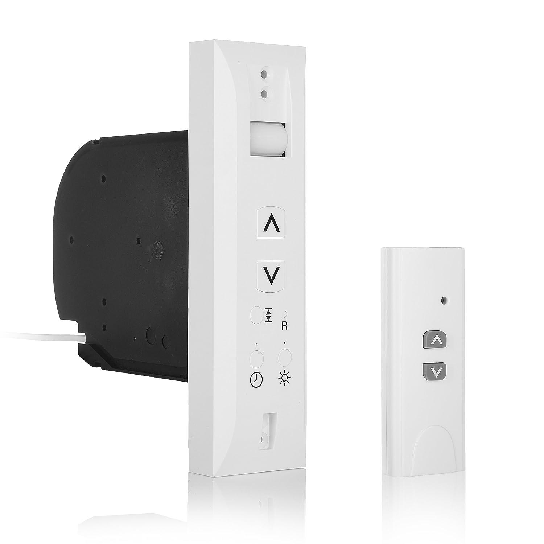 Smartwares Smarthome - Motor de persiana y pantalla con control remoto y luz de sensor (plástico) color blanco 10.037.29 SH5-RBU-A