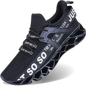 [XINBEIGE]メンズ スニーカー ジョギング カジュアル 運動靴 ウォーキング 通気性 アウトドア トレーニングシューズ 学生 通学 サラリーマン 通勤 カーキ 26.5cm