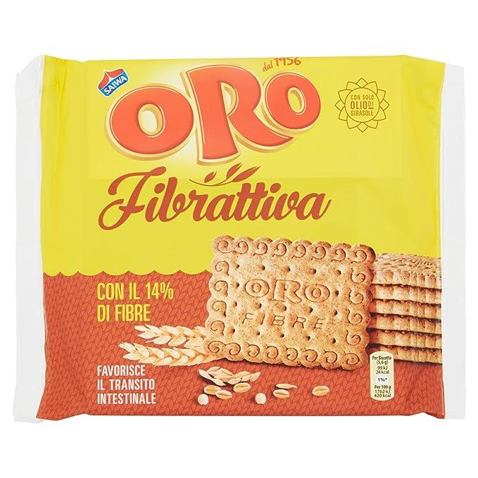 6 opinioni per Saiwa- Oro Fibrattiva Biscotti, Con Fibre Di Frumento- 400 G