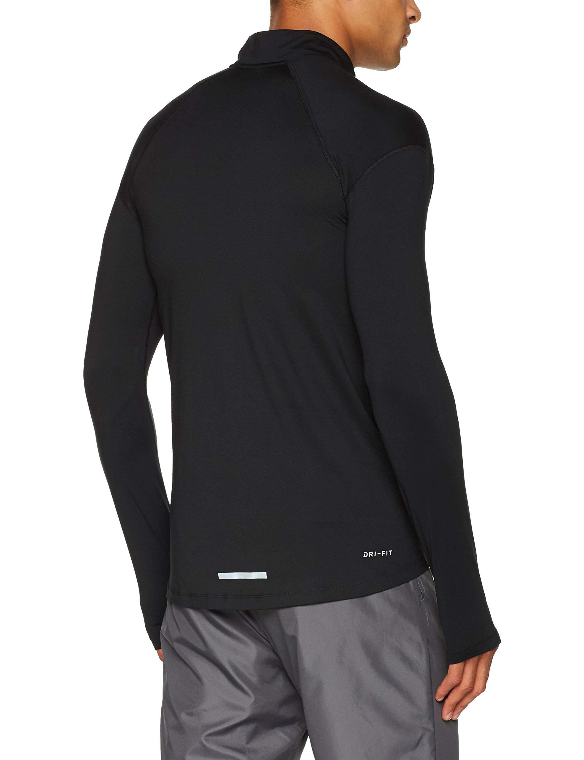 Nike Men's Dry Element 1/2 Zip Running Top Black Medium by Nike (Image #3)