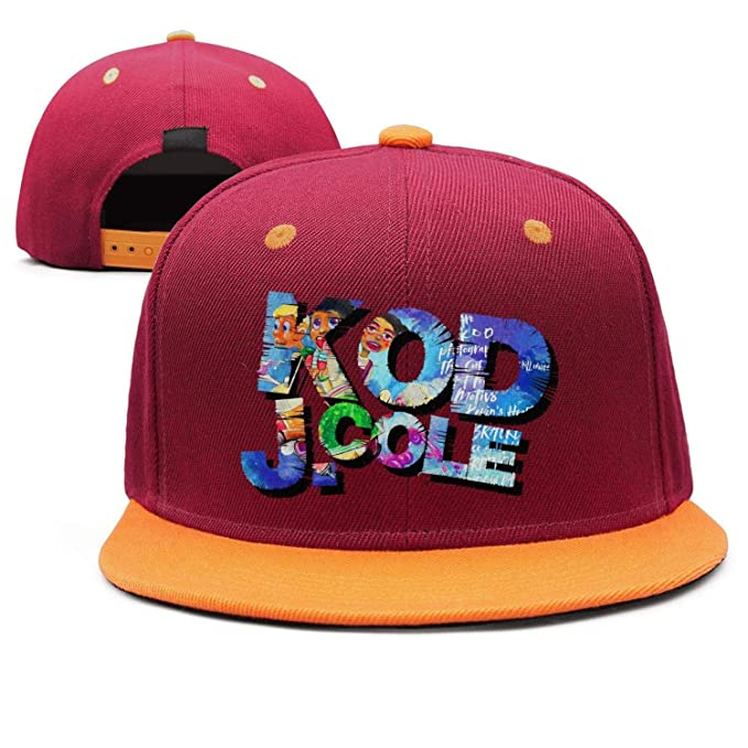 Men Women J.-Cole-KOD- Hunting Cap Fashion Maroon Snapback Hat at ... 42caee8d8aa