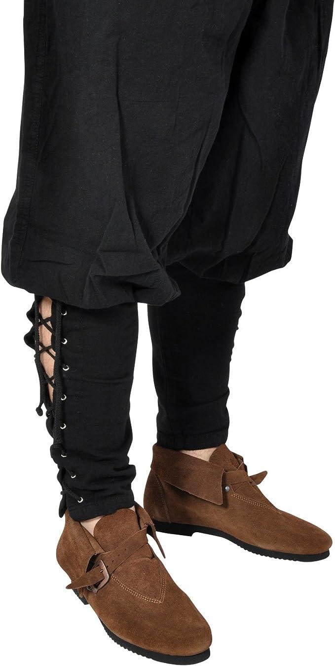 Pantalón vikingo medieval - negro - Disfraz medieval hombre - XL ...