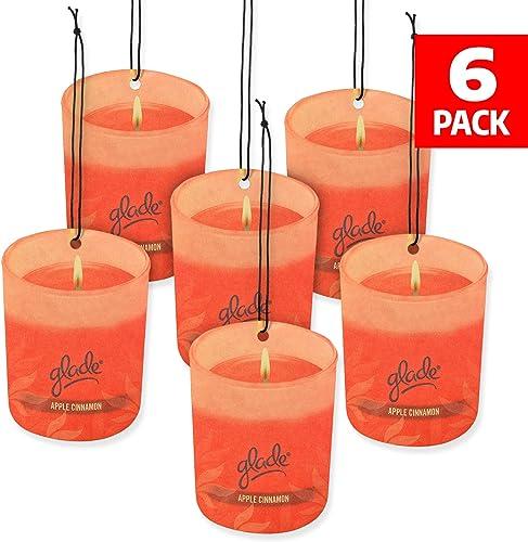 Glade Car Air Freshener 6-Pack Candle Design