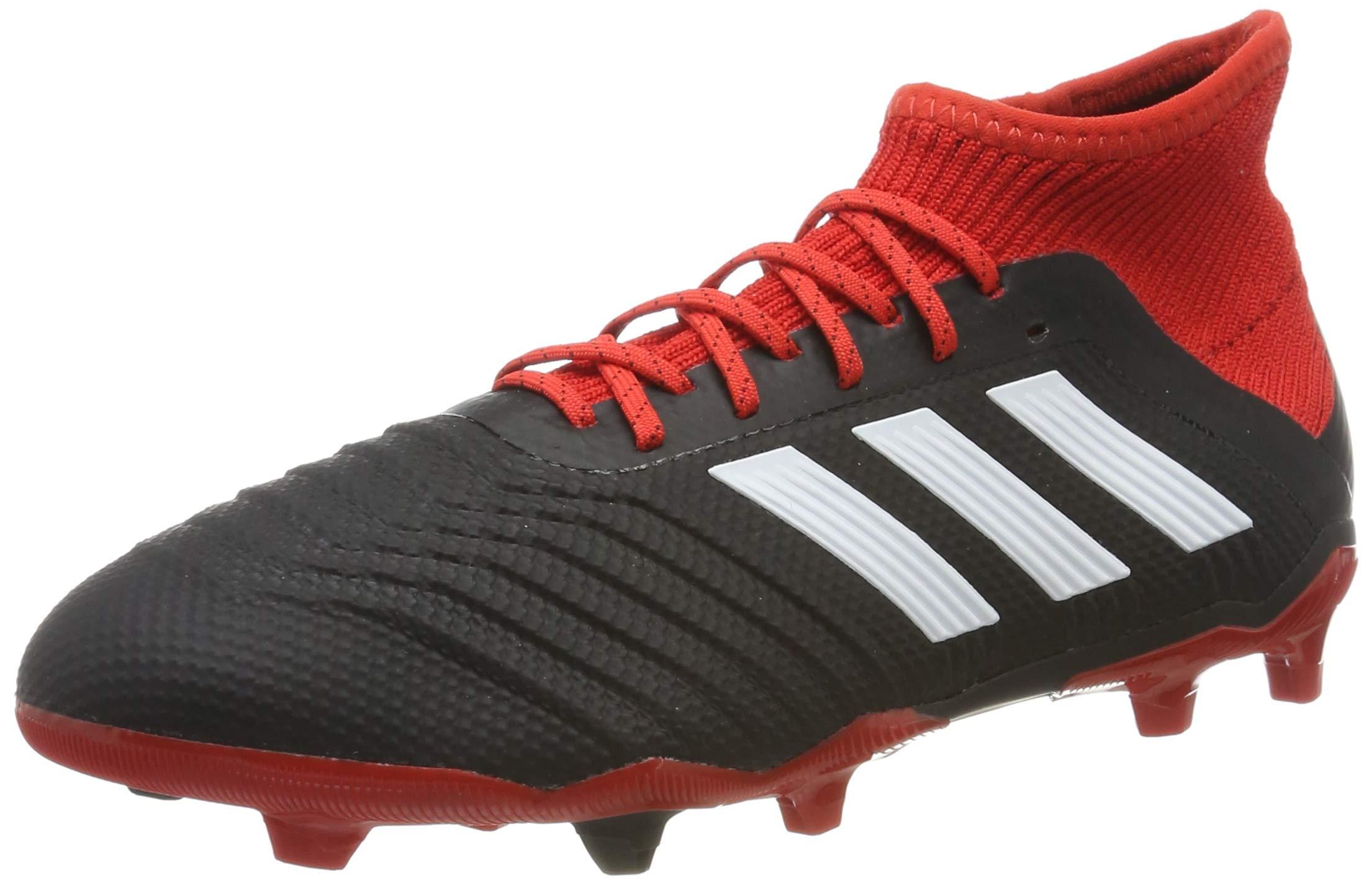 adidas - Predator 181 FG J - DB2313 - Color: Black-Red - Size: 5.0