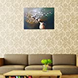 Wieco Art Plum Blossom Floral Oil Paintings