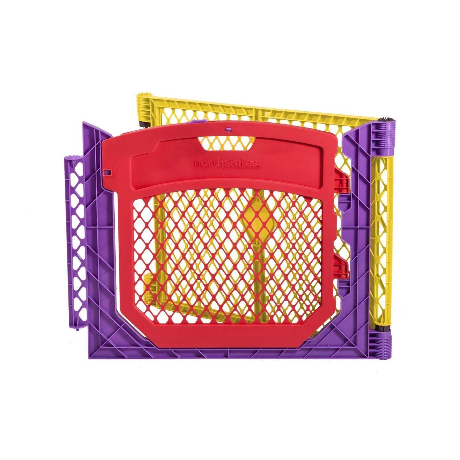 North States 2-Panel Extension with Door for Multicolor Superyard Colorplay: Increases Play Space up to 34.4 sq. ft. (Adds 64'', Multicolor) by North States