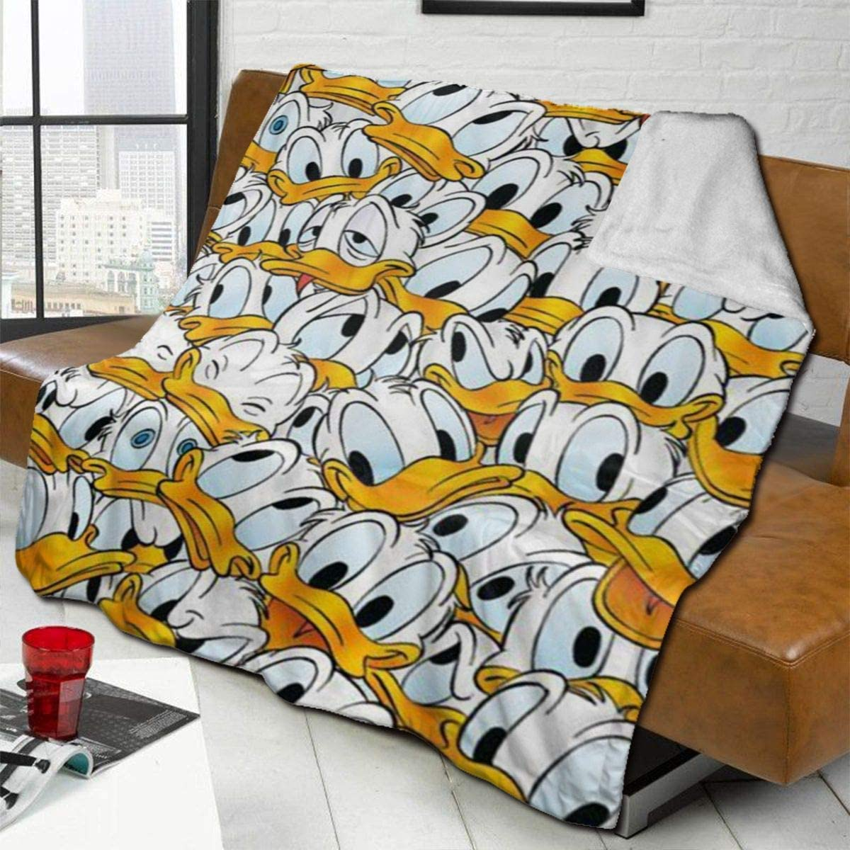 Microfiber Flannel Throw Blanket Just A Girl Who Loves Ducks Super Soft Cozy Lightweight Summer Quilt Perfect for Bed Sofa-50x40 Small for Kids