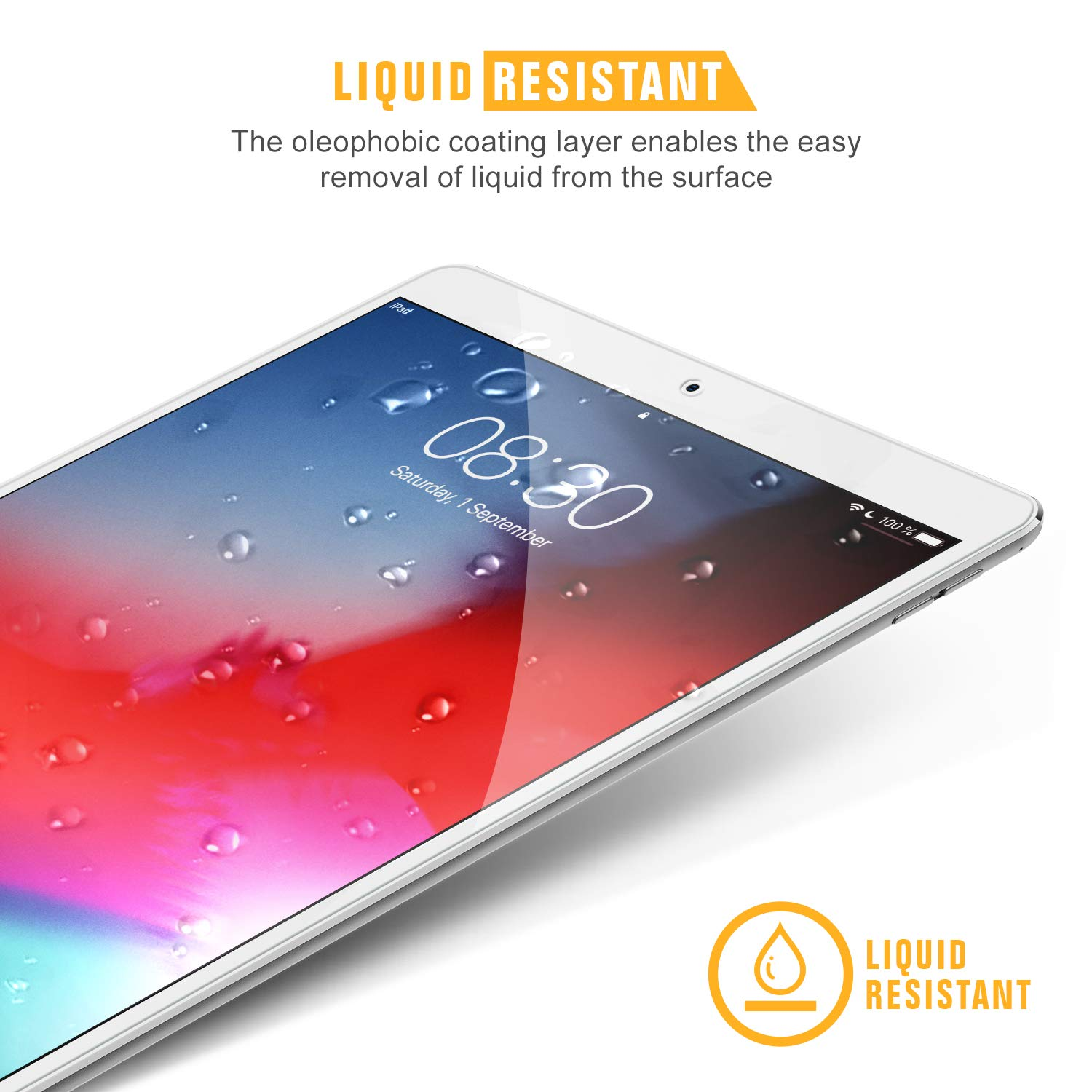 3 Pack 9H Premium Tempered Glass for iPad Air 2019//iPad Pro 10.5 Inch Alignment Frame//Apple Pencil Compatible//Case Friendly//Scratch Resistant Screen Protector for iPad Air 3