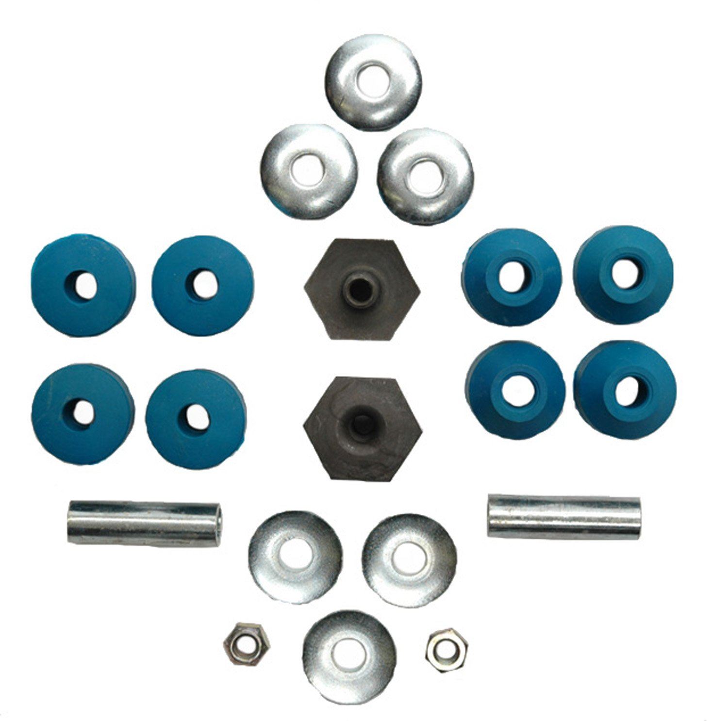 ACDelco 45G0006 Professional Front Suspension Stabilizer Bar Link Kit with Bushings, Washers, and Nuts