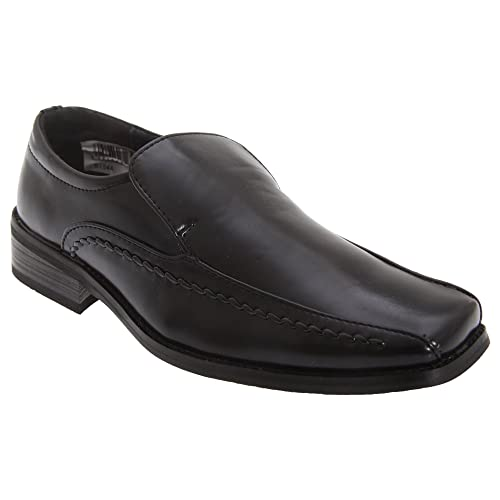 Amazon.com | Goor Boys Leather Slip-On Tramline Formal Loafer Shoes | Loafers & Slip-Ons
