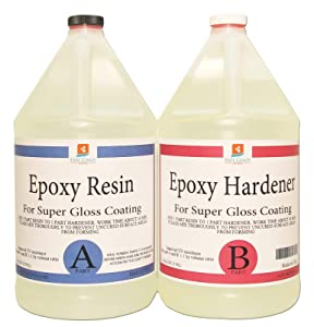 EPOXY Resin 2 Gallon Kit. for Super Gloss Coating and TABLETOPS
