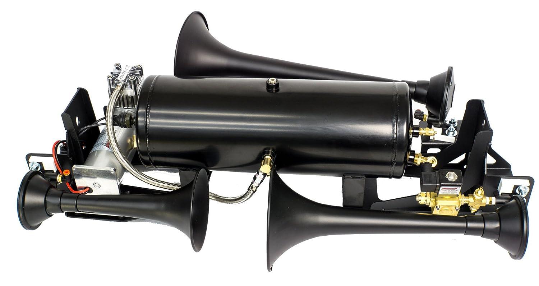 Kleinn Air Horns RAM1500-734 Black Onboard Air and Train Horn System