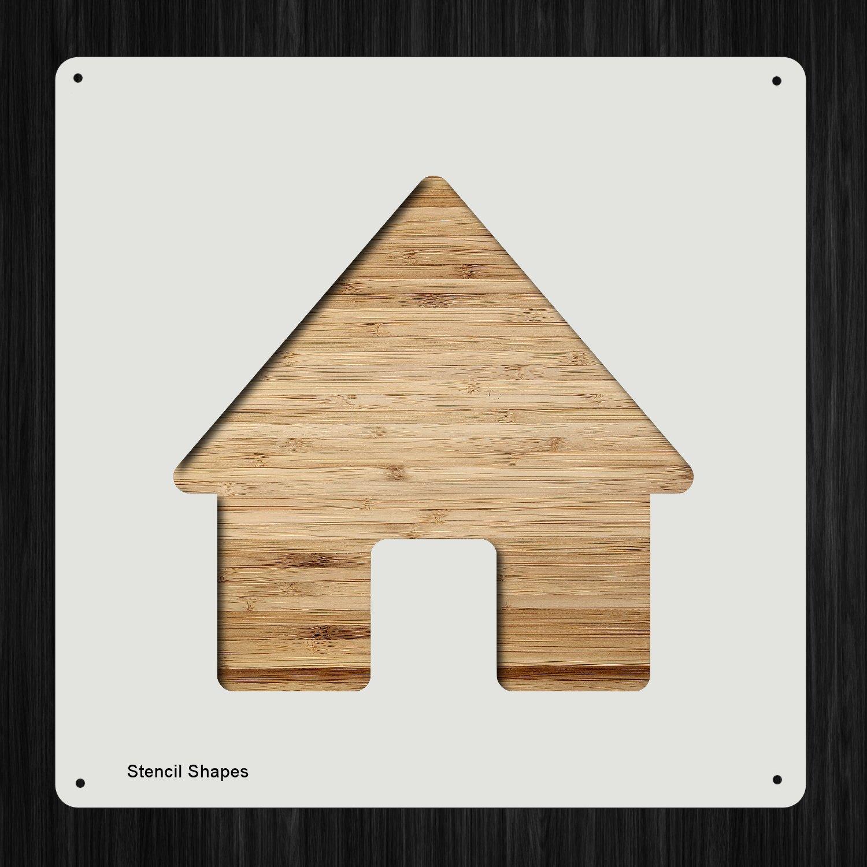 Home Houses House プラスチックマイラーステンシル 塗装 壁 工芸用 292184   B07DMB3CLV