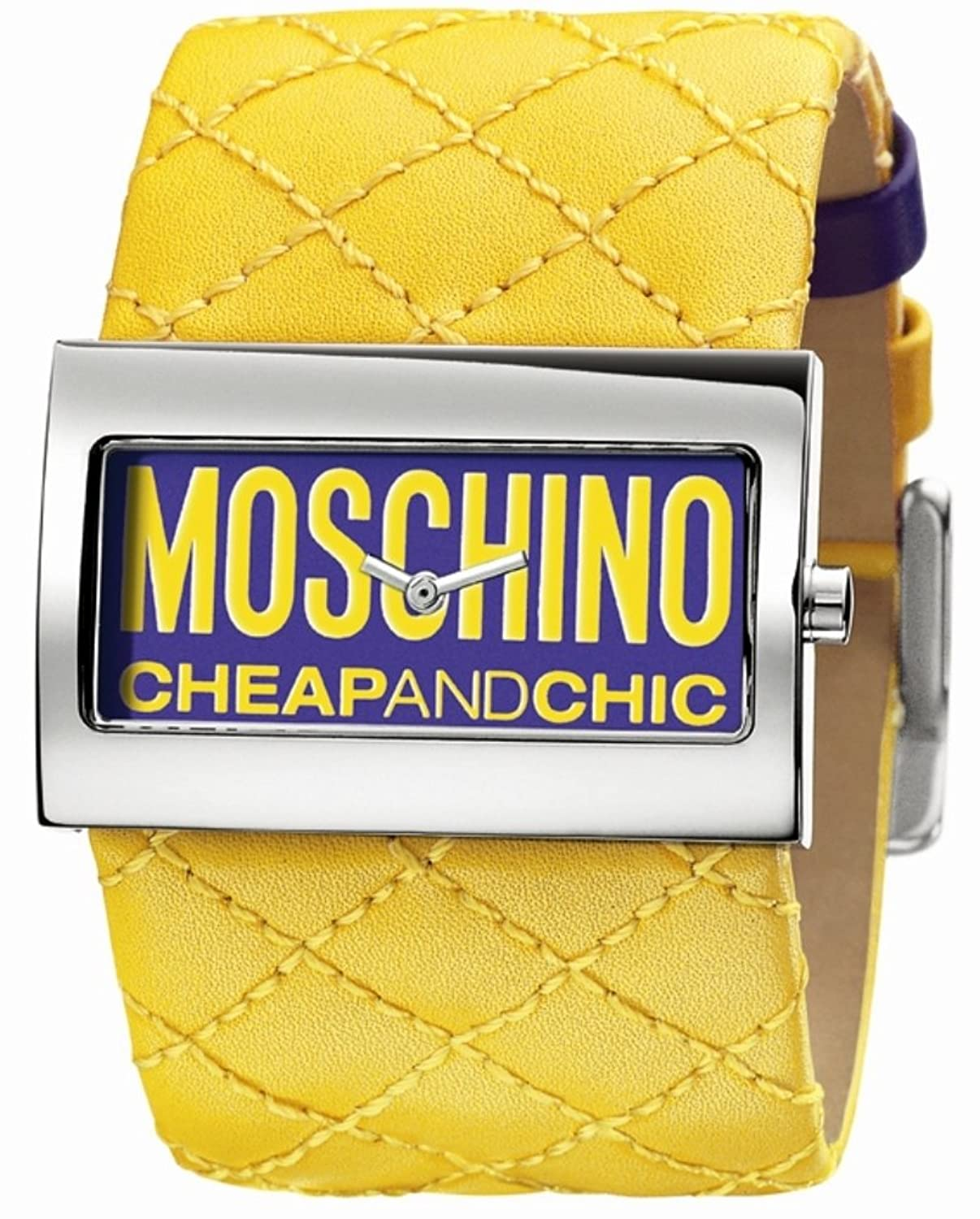 MOSCHINO-Damen-Armbanduhr TIME FOR FASHION 2H PURPLE-YELLOW STR MW0015