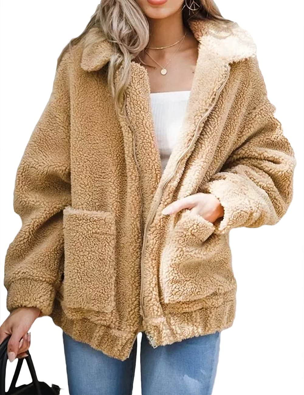 XXXITICAT Women's Winter Faux Fur Outerwear Parkas Jackets