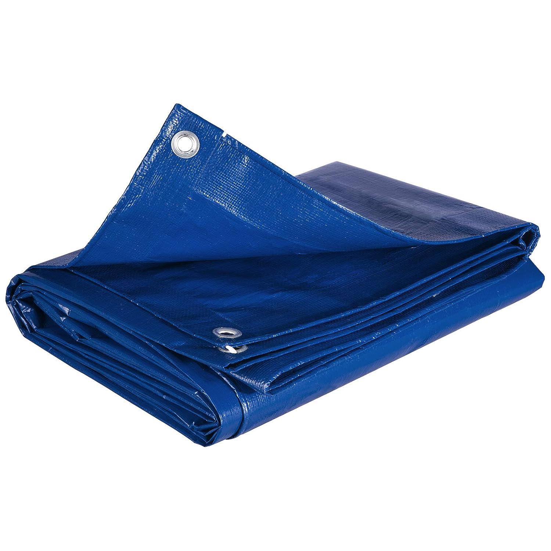 WOLTU GZ1211szg03 B/âches de protection PE,couverture /étanche B/âches couverture de bateau,b/âche /étanche et ind/échirable,4x8m 280g//m/²,Gris-Noir