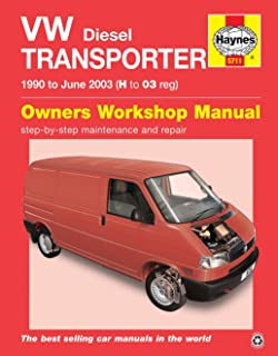 vw transporter t4 petrol and diesel 1990 1995 workshop manual rh amazon co uk